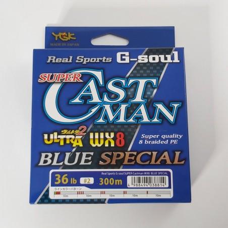 YGK Soul Super Castman Blue Special WX8 - 300m